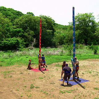 The teams compete for reward in <i>Worlds Apart</i>.