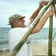 B.B. working at the Pagong camp.