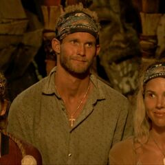 Kellyn at her first Tribal Council with Lavita.