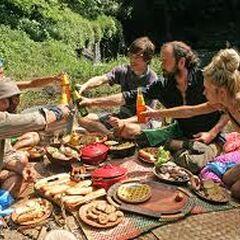 Laura enjoying a picnic with <a href=