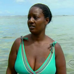 Cirie talking in the Sea.