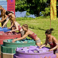 Vata competes in the Immunity Challenge, <i>Star Man</i>.
