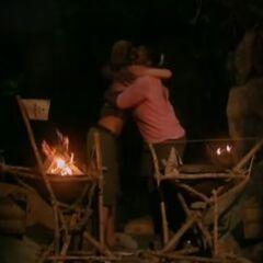 Cirie hugs Danielle.