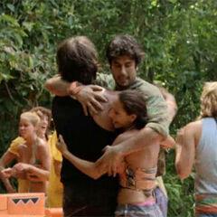 Mary hugging <a href=