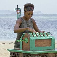 Tasha at her lock box.