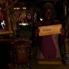 Francesca votes for Andrea.