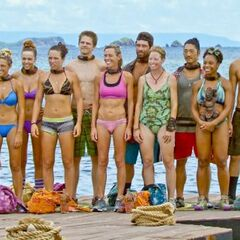 The castaways before the challenge.