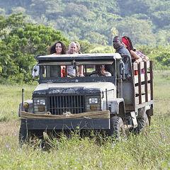 The Aparri Tribe (Brawn) arriving via truck