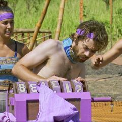 The purple team competes (<i>David vs. Goliath</i>).