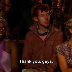 Andrea thanking her tribe for not blindsiding her.
