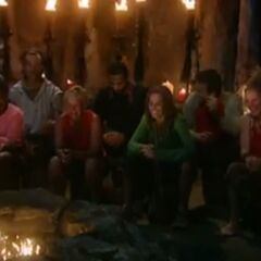 Casaya at Tribal Council.