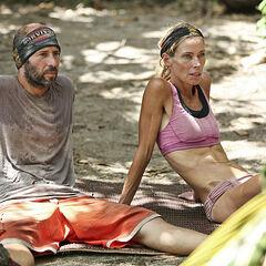 Tony with Trish at camp.