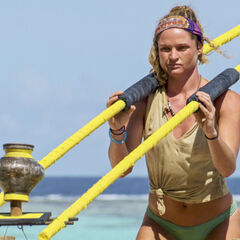 Ashley competing in <i>Squatty Probst</i> for immunity.