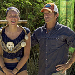 Kellyn after winning the first individual Immunity Challenge.