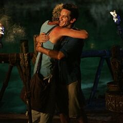 Jonny Fairplay hugging <a href=