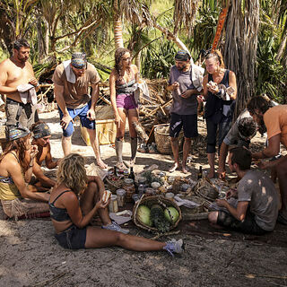 The tribes have their merge feast.