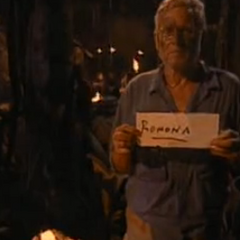 B.B. casting his first and only vote at Tribal.