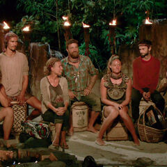 Solewa at their sixth Tribal Council.