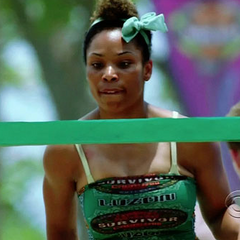 Tasha at the first challenge of the season, <i><a href=