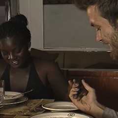 Cirie and Aras eat dinner on the last reward.