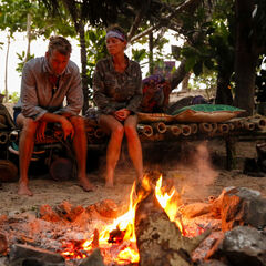Angela talks with Chris about Naviti's previous Tribal Council.