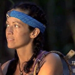 Laura heading towards Tribal Council.