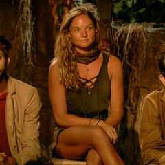 Ryan, Ashley, and Mike at Tribal Council.
