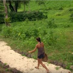 Mikayla leaving Redemption Island after losing the duel.
