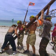 Pagong competes in the sixth Immunity Challenge, <i><a href=