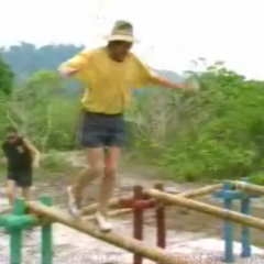 Clay in the final four Immunity Challenge.