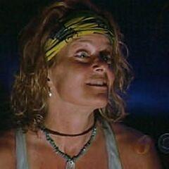 Kathy at Tribal Council.