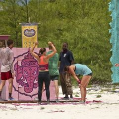Bayon wins the fourth Immunity Challenge.