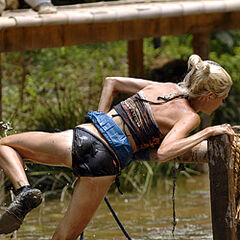 Courtney competing during the challenge.