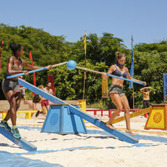 Ashley and Desi competing for Levu in the fifth <a href=