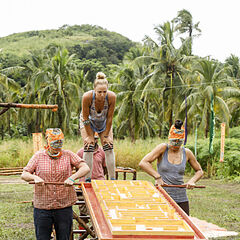 Vuku competes in the fourth Reward/Immunity Challenge, <i><a href=