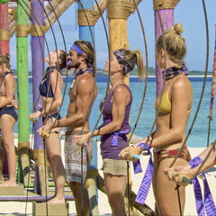 Lavita competes in the fourth individual Immunity Challenge, <i>Crocodile Rock</i>.