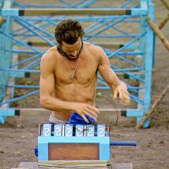 Ken solving his combination lock.