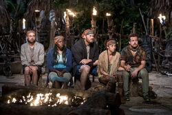 Vanua-tribe-at-tribal-council-survivor-millennials-vs-gen-x-episode-5-cbs y7ucsl