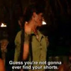Before leaving Tribal Council, Julie quips at Phillip.