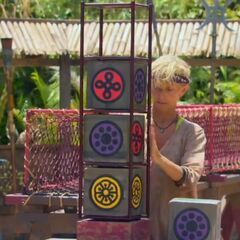 Tina competing in the ninth Redemption Island duel, <i><a href=