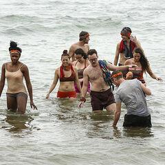 Vanua in the ocean.