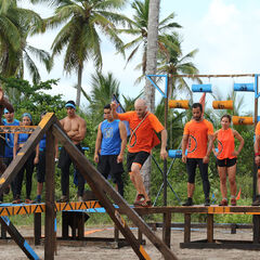 Banda competing in the sixth Immunity Challenge.