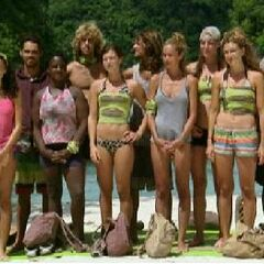 Dabu before the challenge as a merged tribe.