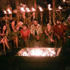 The Villains at their second Tribal Council.