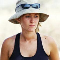 Kelly at Boran's camp.