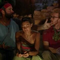 Judd arguing with Gary at Tribal Council.