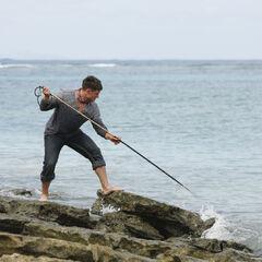 Caleb spearfishing.
