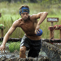 Matty competes in <i>Swamp Monkeys</i>.