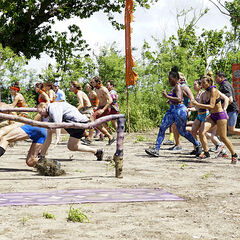 The tribes race for immunity in the first Immunity Challenge, <i>Got to Choose</i>.