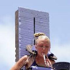 Krista at a challenge.